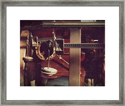 Weights And Measures Framed Print by Steven Milner