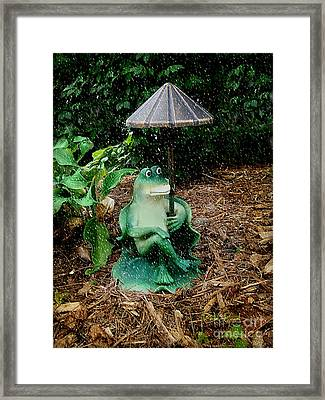 Weird Frog Framed Print