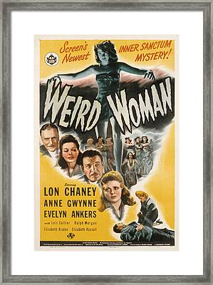 Weird Woman, Anne Gwynne Top, Lon Framed Print by Everett