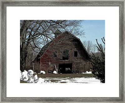 Welcome Framed Print by Bonni Belle Winter