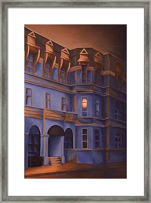 Welcome Home - A Light In The Window Framed Print by Duane Gordon