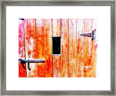 Welcome Framed Print by Sara Rose Nissen