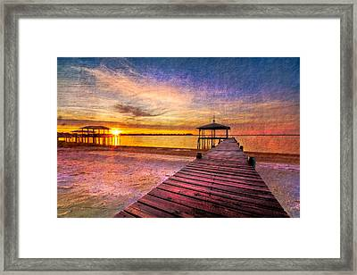 Welcome The Morning Framed Print by Debra and Dave Vanderlaan