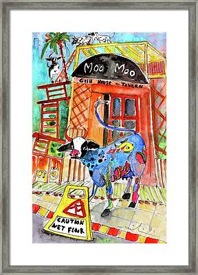 Welcome To Cyprus 01 Framed Print by Miki De Goodaboom