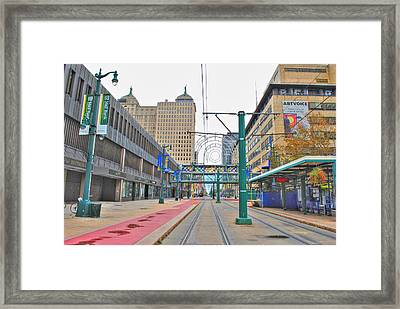 Framed Print featuring the photograph Welcome To Dt Buffalo by Michael Frank Jr