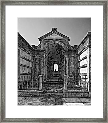 Welcome To Eternity Monochrome Framed Print