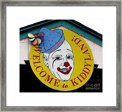 Welcome To Kiddyland Framed Print by Maria Scarfone