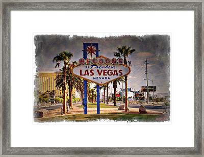 Welcome To Las Vegas Sign Series Impressions Framed Print by Ricky Barnard