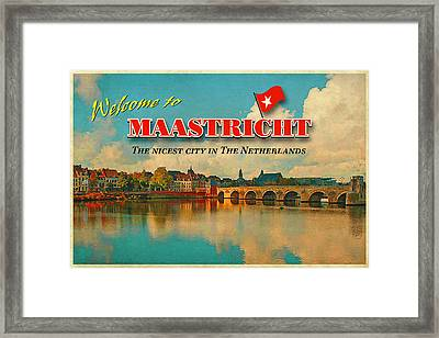 Welcome To Maastricht Framed Print by Nop Briex