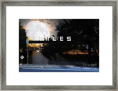 Welcome To Niles California . Gateway To The Stars . 7d12755 Framed Print by Wingsdomain Art and Photography