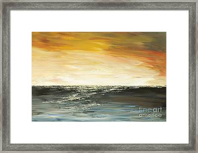 Framed Print featuring the painting Welcome To The Maldives by Tatiana Iliina