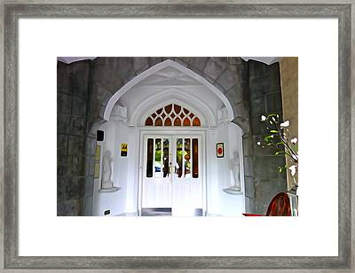 Framed Print featuring the photograph Welcome To The Manor by Charlie and Norma Brock