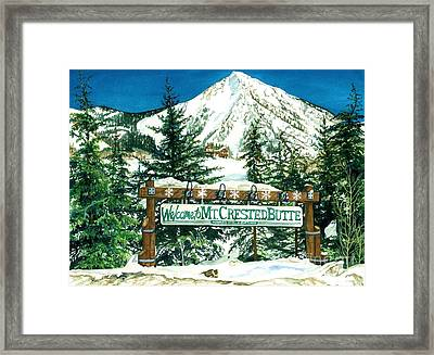 Welcome To The Mountain Framed Print by Barbara Jewell