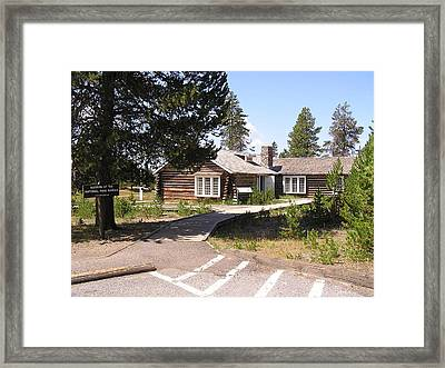 Welcome To The Museum Of The National Park Ranger Framed Print by Feva  Fotos