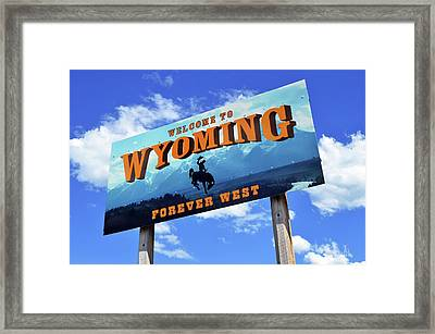 Welcome To The West Framed Print