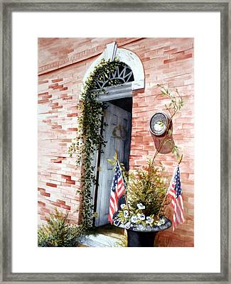 Welcome To Wickford Framed Print