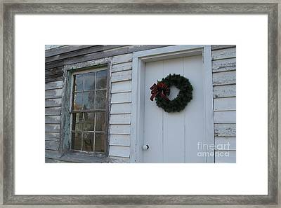 Welcoming Wreath  Framed Print by Nancy Patterson