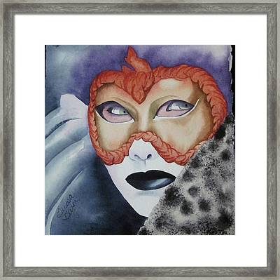 Well Worn Mask Framed Print