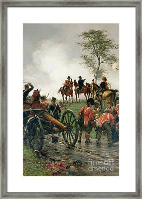 Wellington At Waterloo Framed Print
