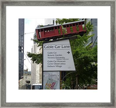 Wellington Cablecar Framed Print by Carla Parris