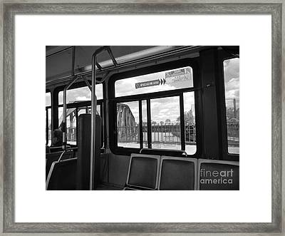 Wellington Overpass Framed Print by Reb Frost