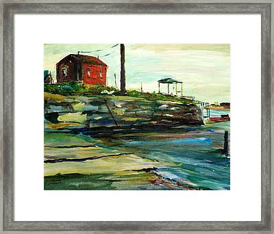 Wells Harbor Maine Framed Print