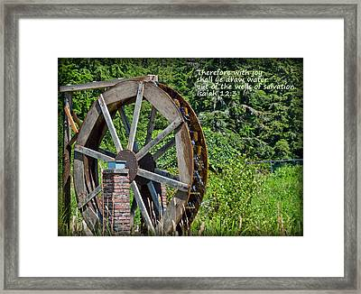 Wells Of Salvation Framed Print