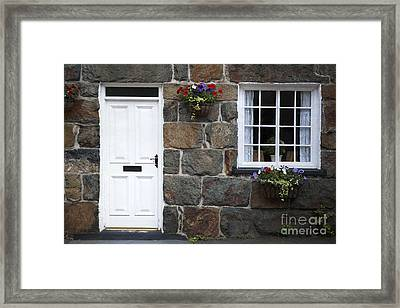 Welsh Cottage Detail Framed Print by Jane Rix