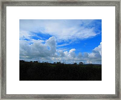 Welsh Sky Framed Print by Ian Kowalski