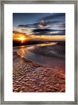 Welsh Sunset Framed Print by Adrian Evans