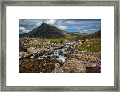 Welsh Valley Framed Print by Adrian Evans