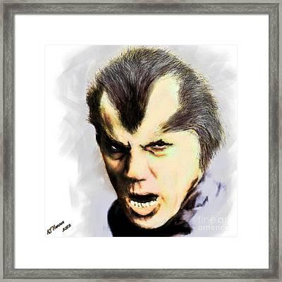 Werewolf Of London Framed Print by Arne Hansen