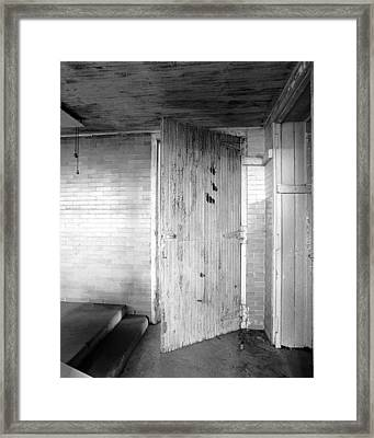 Wern Dairy Door Framed Print by Jan W Faul