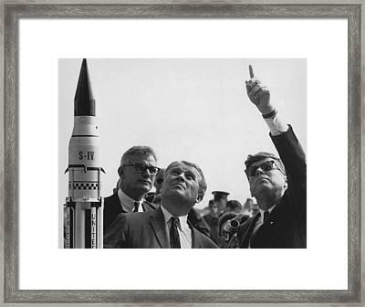 Wernher Von Braun Explains The Saturn Framed Print by Everett