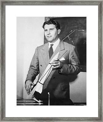 Wernher Von Braun, German Rocket Designer Framed Print
