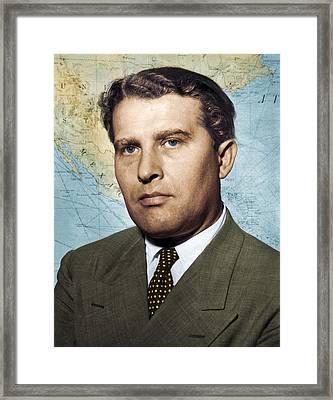 Wernher Von Braun, German Rocket Pioneer Framed Print
