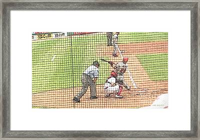 Werth Swings For Phillies Framed Print by Lani PVG   Richmond