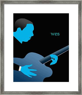 Wes Montgomery Blue Framed Print