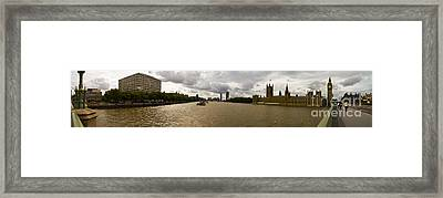 Wesminster Pano Framed Print by Keith Sutton