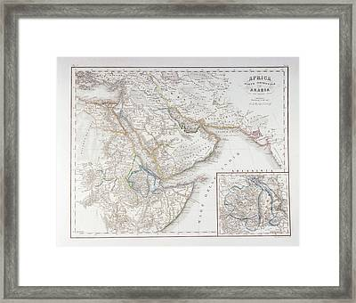 West Africa And Arabia Framed Print