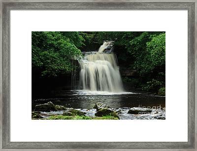 West Burton Falls In Wensleydale Framed Print