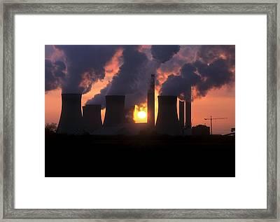 West Burton Power Station, Uk Framed Print