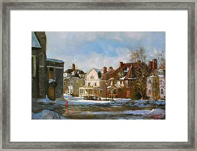West Ferry Street Framed Print