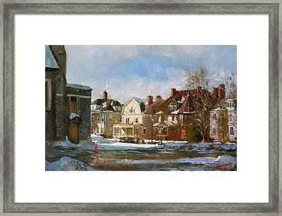 West Ferry Street Framed Print by Ylli Haruni