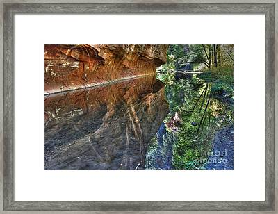 Framed Print featuring the photograph West Fork Reflection by Tam Ryan