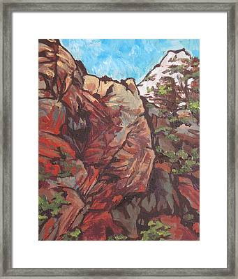 West Fork Framed Print by Sandy Tracey
