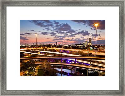 West Houston Around Dowtown Framed Print