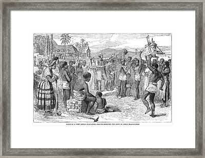West Indies: Emancipation Framed Print by Granger