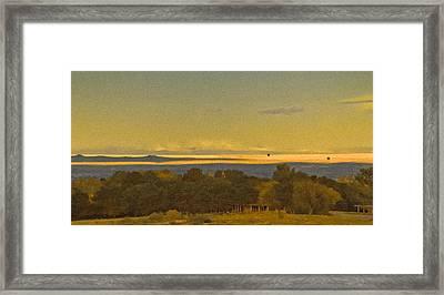 Albuquerque, New Mexico - West Mesa Landscape Framed Print