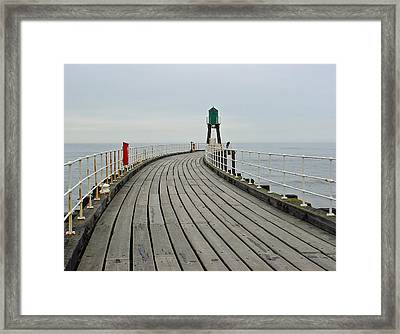 West Pier And Beacon Framed Print by Rod Johnson